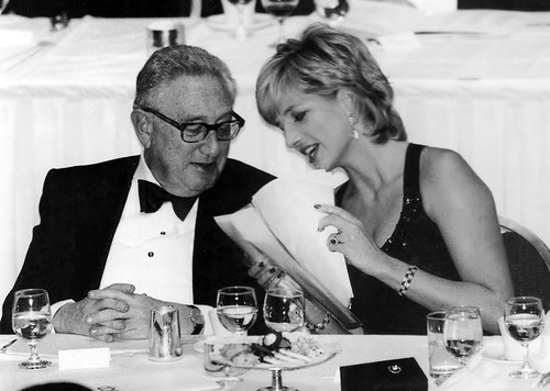 Henry Kissinger with Princess Diana in 1995 | by Doc Kazi
