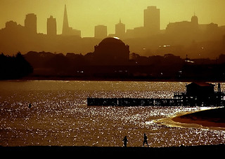 San Francisco Skyline & Palace of Fine Arts from Golden Gate Promenade - Morning | by David Paul Ohmer