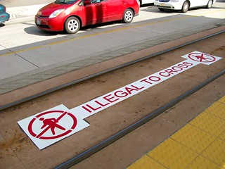 Illegal to cross | by Oran Viriyincy
