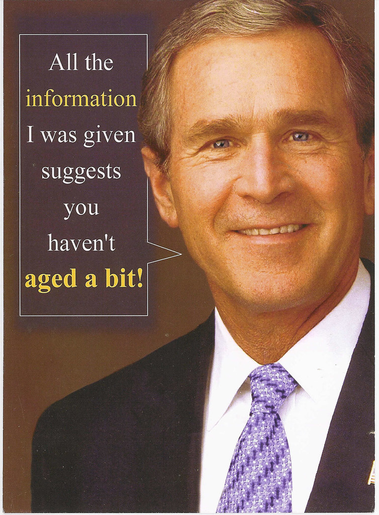 george bush birthday Birthday Card From George Bush | Mervyn 1650Lobo | Flickr george bush birthday