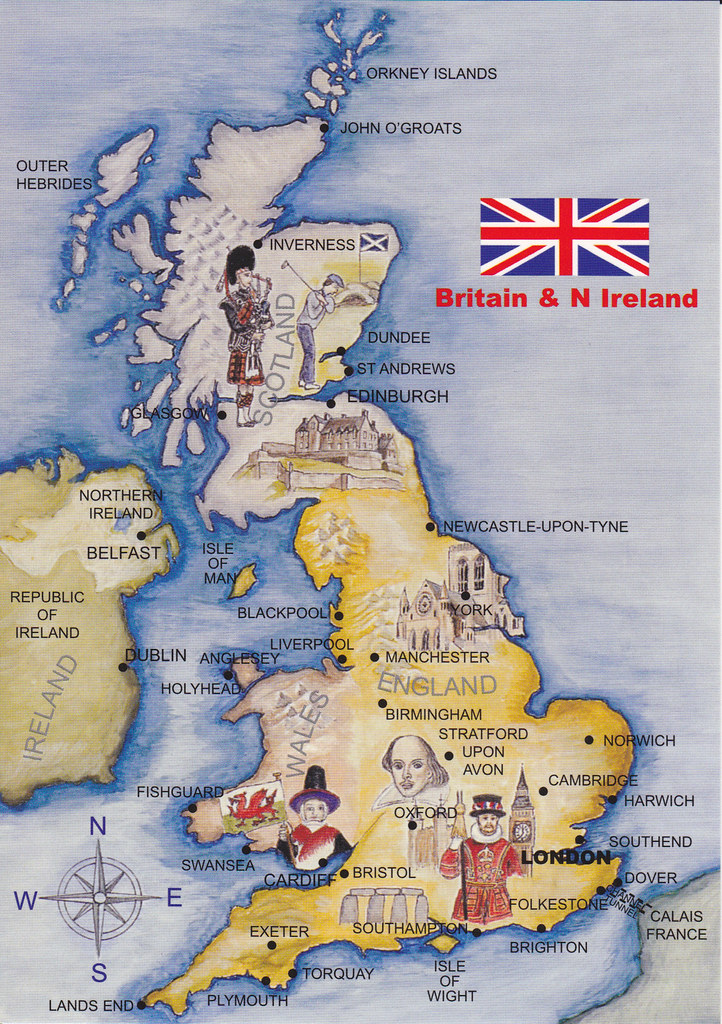 British Isles Map Postcard | Map RR 133 (3 maps in an envelo… | Flickr