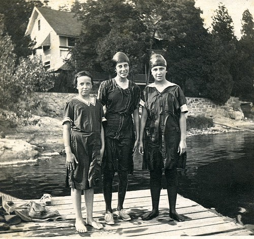 1915 - Three Bathers on Ti Dock | by thompsonspoint
