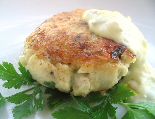 Fish Cake or Faux Crab Cake | by Nook & Pantry