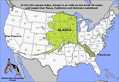 Alaska Usa Map A Comparison Map Low Resolution I Found Flickr - Alaska usa map