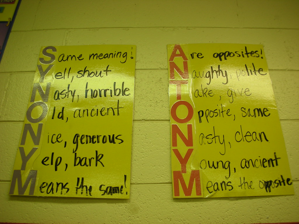 worksheet Learning Synonyms learning focused classrooms synonyms and antonyms by flickr