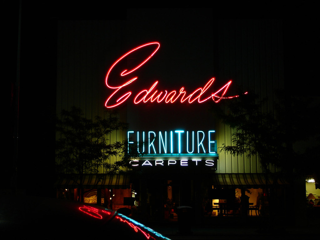 Delicieux ... Edwards Furniture, Logan, UT (night) | By Samwibatt