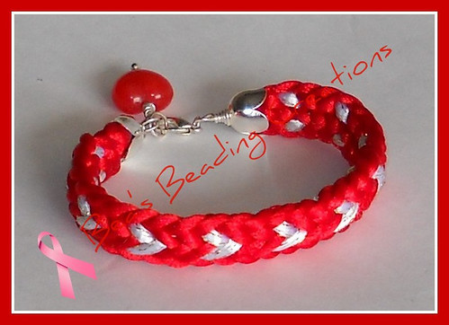 Flat kumihimo heart pattern bracelet | by Bea's Beading Creations