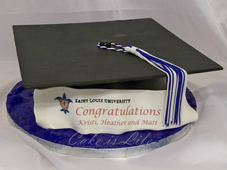 Graduation Cap Cake | by Cake is Life ~ Emily