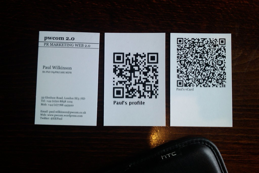 QR codes on business cards | My new business cards, two vers… | Flickr