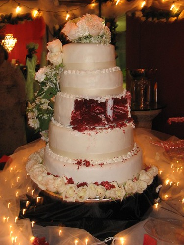 Rustic Wedding Cakes On Tiered Seperator Cake Plates