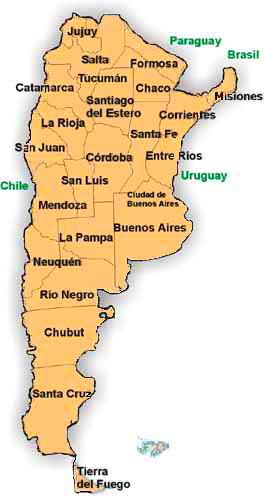 Mapa Províncias Argentinas Argentine Provinces Map Flickr - Argentina map with provinces