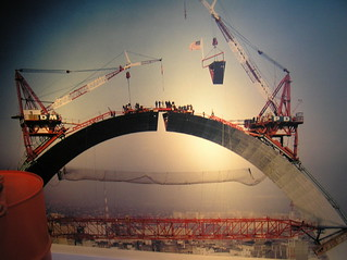 063 Missouri - St. Louis - Gateway Arch - Photo of construction of Arch | by eewolff