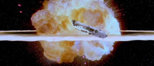 Death Star Explosion & Millenium Falcon