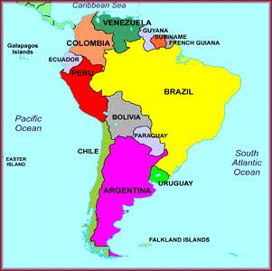 Mapa América del Sur; mapa América do Sul; South America m… | Flickr