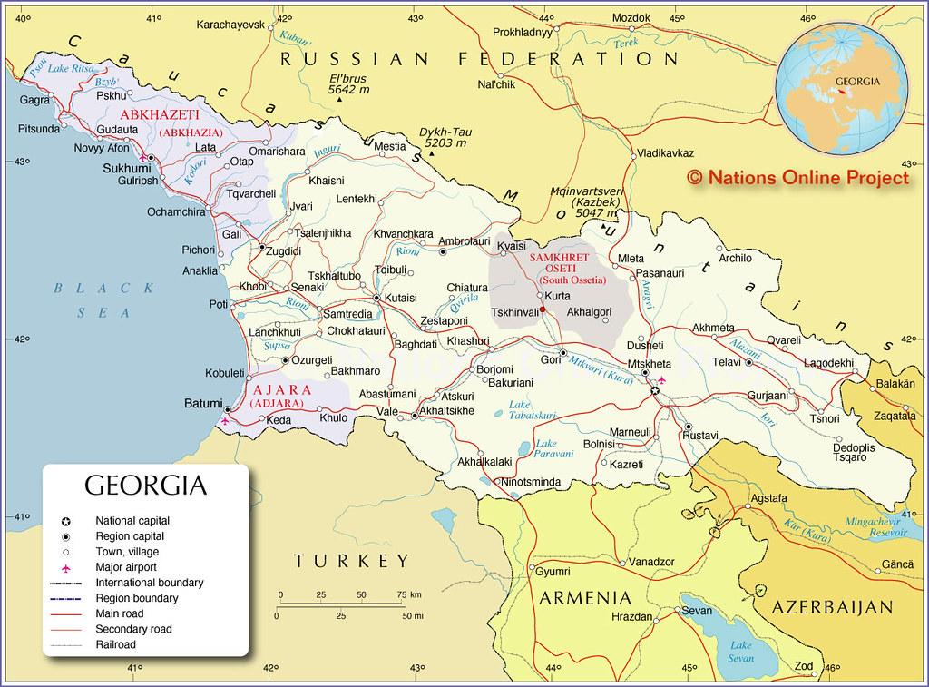 Map Of The Caucasus Republic Of Georgia Political Map Show Flickr - Nalchik map