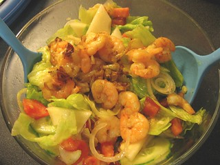 Mixed salad with shrimp for Supper | by Farruska
