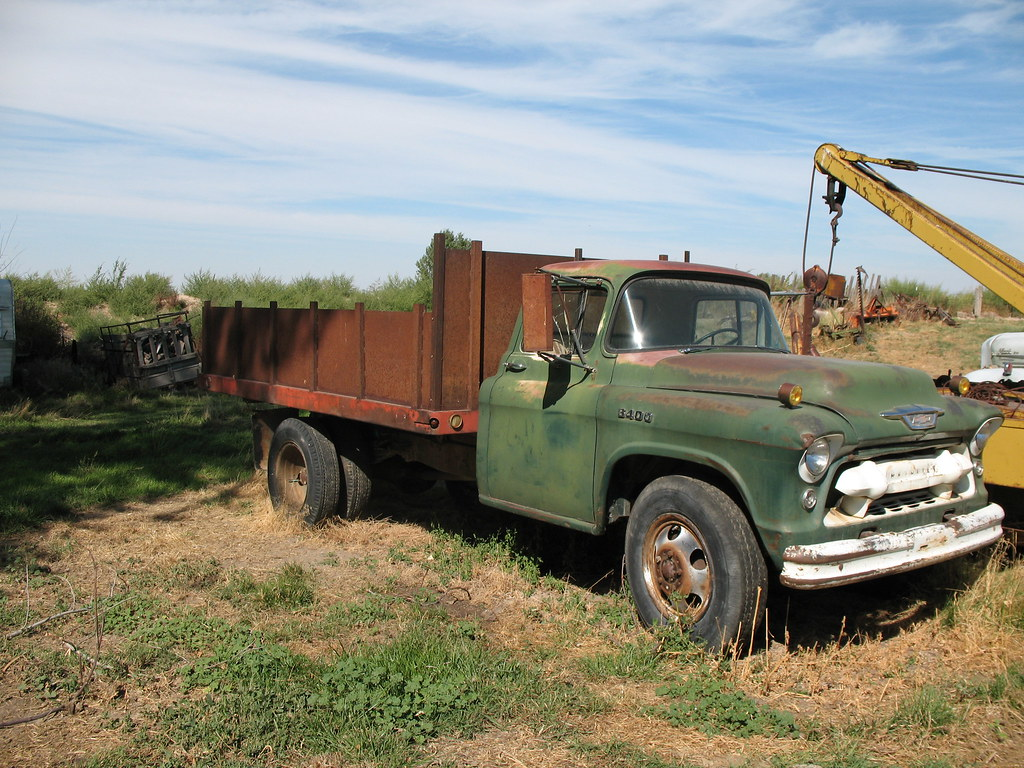 Truck chevy 1955 truck : 1955 Chevrolet dump bed truck   55 chevy truck with a all st…   Flickr