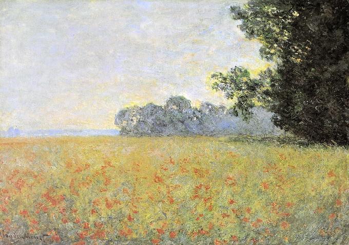 Le Champs d\'avoine aux coquelicots (1890) Huile sur toile … | Flickr