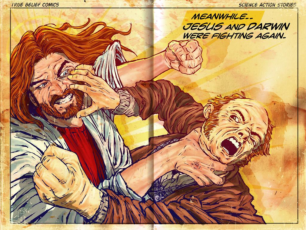jesus vs darwin jesus christ positives impressive stami flickr