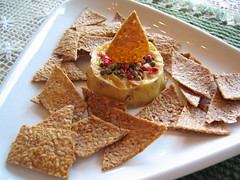 cashew_cheese and flax_seed_crackers | by tofu666