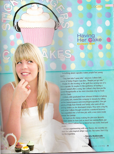 coral gables living magazine spread | by sticky fingers cupcakes