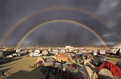 Double-Rainbow Post-storm, Burning Man 2007 | by mr. nightshade