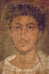 Fragmentary Shroud with a Bearded Young Man Egypt 120-150 CE Tempera on linen (1) | by mharrsch