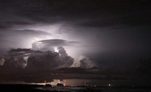 Lightning Over Launch Pads (Grey) | by jkc photos