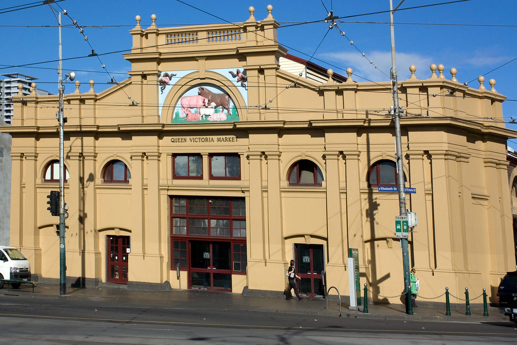 Queen Victoria Market Meat, Poultry & Seafood Hall, Elizabeth Street, Melbourne Australia