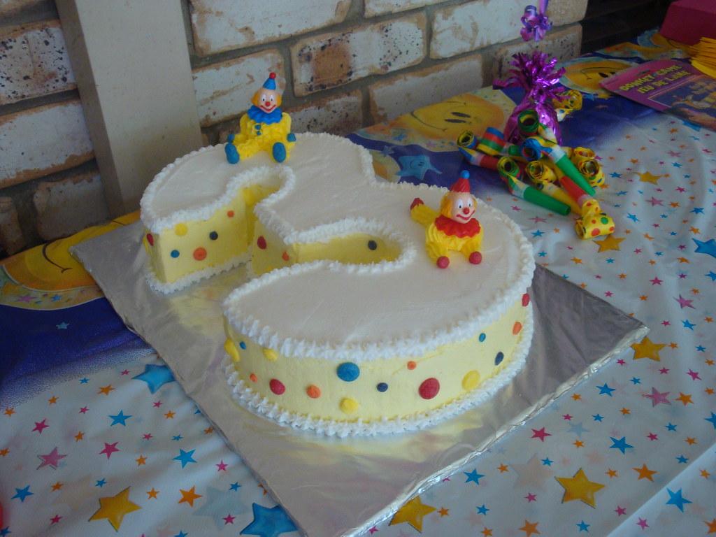 Number 3 Birthday Cake 3rd Birthday Clown Cake Flickr