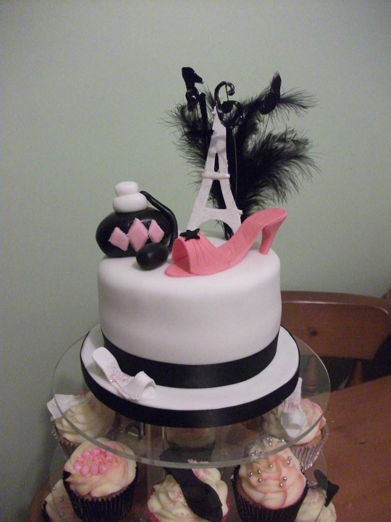 Paris Themed 16th Birthday Cake Cupcakes Little Charm Bakery