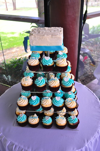 Turquoise wedding cupcakes | by Cupcake Passion (Kate Jewell)