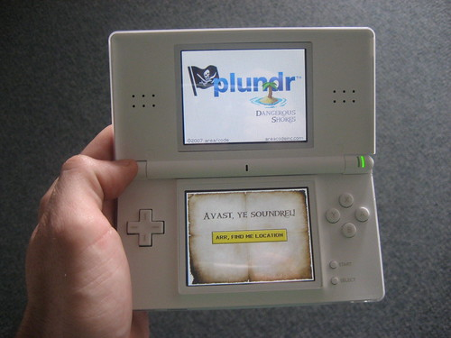 plundr homebrew on the DS: first location based game running on Nintendo DS! | by -- Slavin