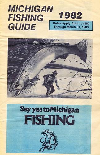 1982 michigan fishing license guide 1982 michigan for Fishing license mi
