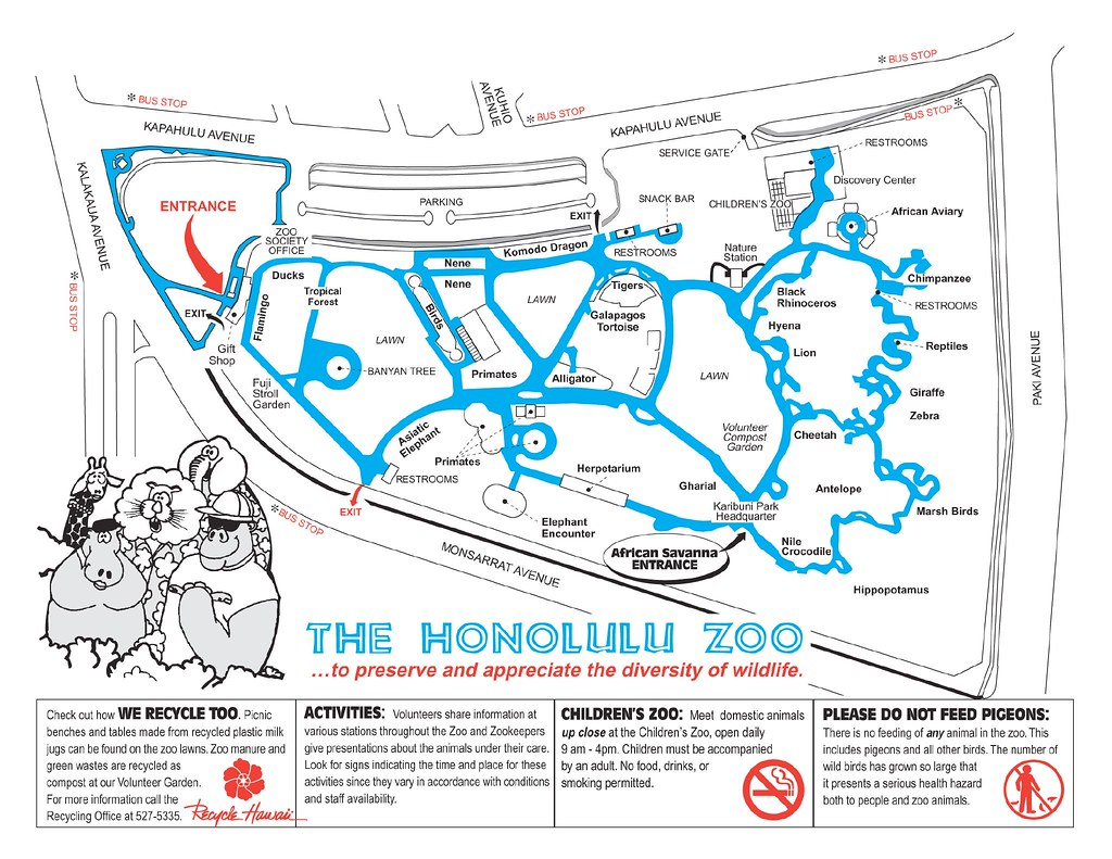 12c Honolulu Zoo Map E The first map we had was in Jap Flickr