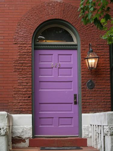 Purple Door Red Brick Arch Washington Dc