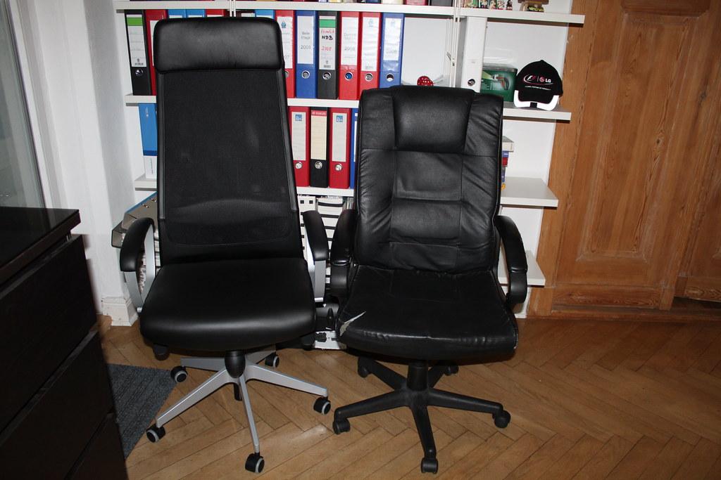 Ikea Bürostühle ikea bürostuhl markus und alter chefsessel roller flickr