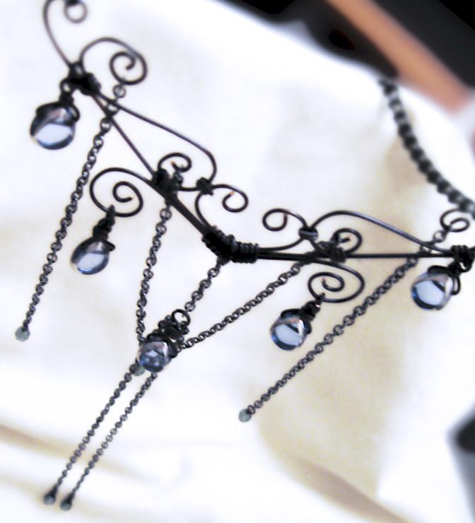 Gothic wirework necklace | Kick Rox Jewelry | Flickr