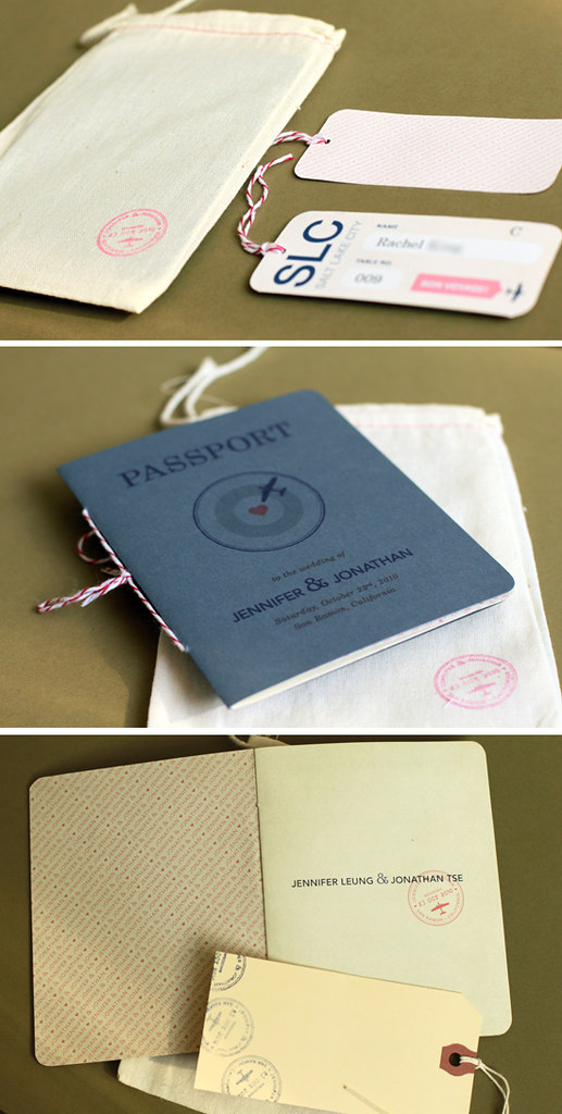 Travel Themed Passport Wedding Program