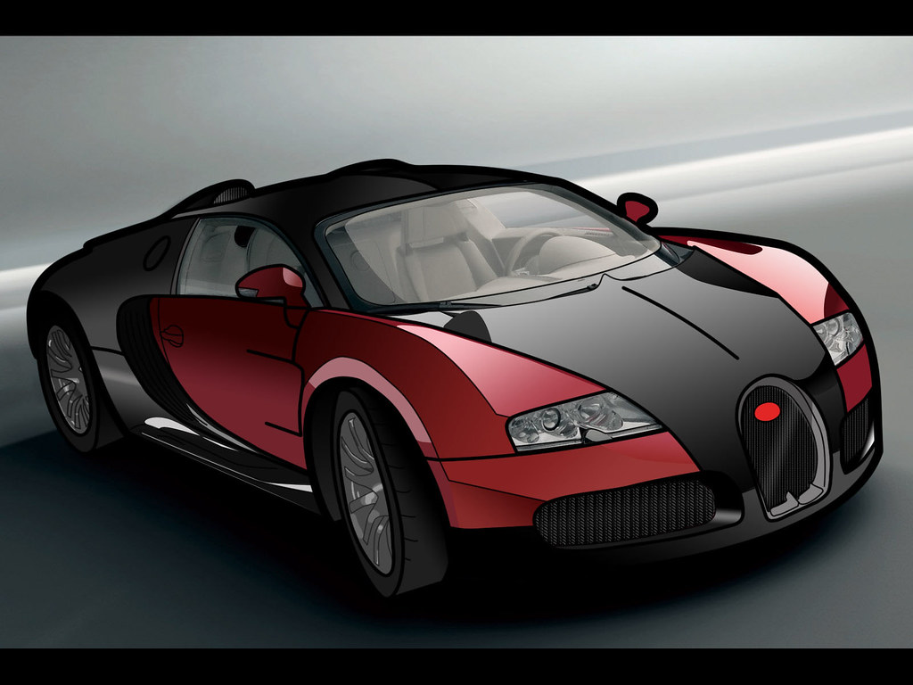 Bugatti Veyron Vector And Colour In Photoshop This Took Ag Flickr
