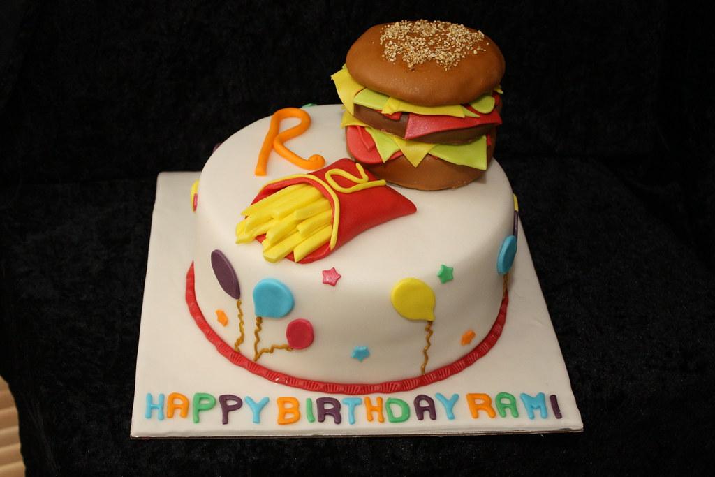 Birthday Cakes Dubai ~ Burger and fries cake from the house of cakes dubai u flickr