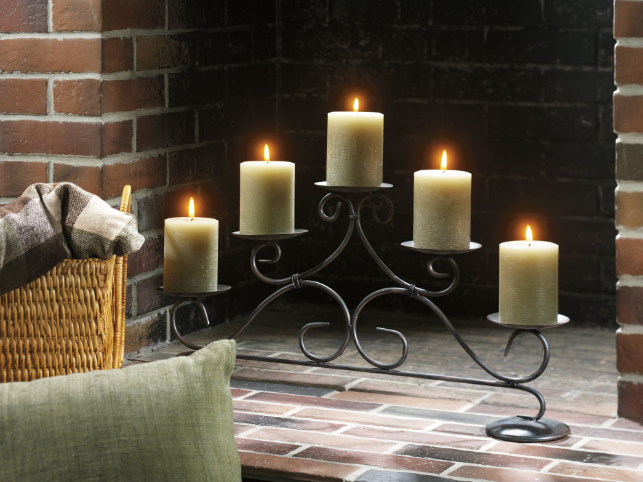 Warm the hearth for the holidays and every day with this stately fireplace pillar holder by Yankee Candle. 	www.yankeecandle.com/cgi-bin/ycbvp/retail.jsp