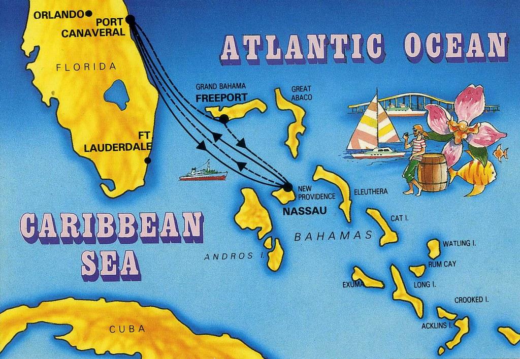 Atlantic OceanCaribbean Sea Map Private Swap With Helen I Flickr - Caribbean sea map