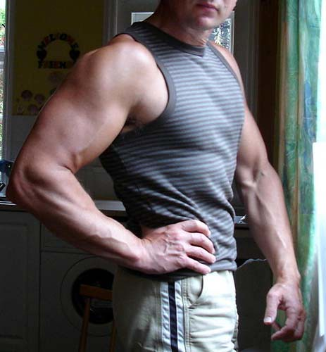 17 inch arms and 30 inch waist my slim waist big arms