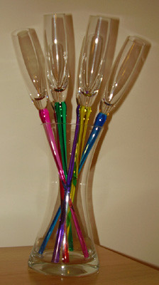 Champagne Flutes Out Of Box Photo 2 2 Hand Made