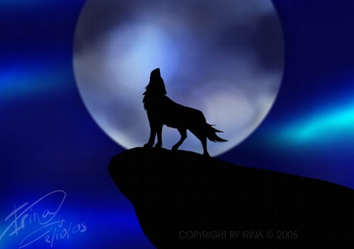 Dibujo Lobo Y Luna 2 Noldur Flickr