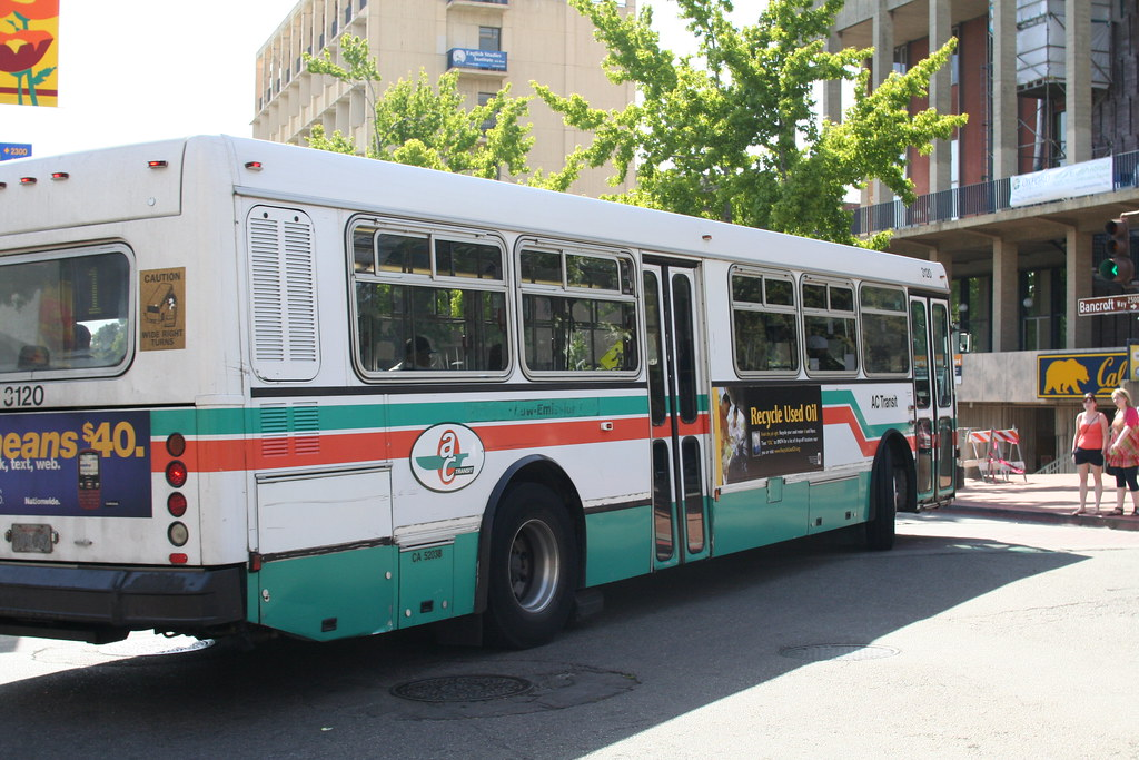 Ac Transit Bus Route 1 At Telegraph And Bancroft By Uc Berkeley Campus No