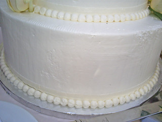 Closeup of Wedding Cake from Layers in Monterey, CA | by cakespy