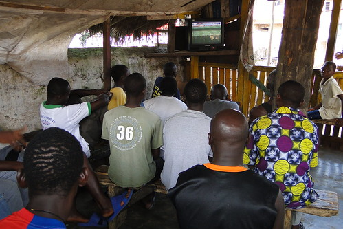 Locals Watch Germany vs. Serbia World Cup Match on Neighborhood TV - Elmina - Ghana | by Adam Jones, Ph.D. - Global Photo Archive