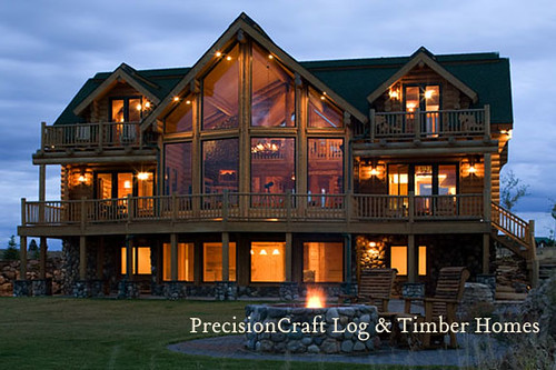 A Milled Log Home Masterpiece By Precisioncraft Log Home Flickr